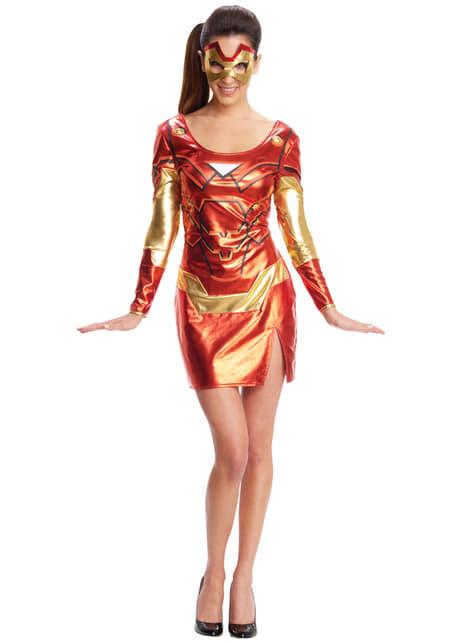 Vestido disfraz de Iron Man para mujer