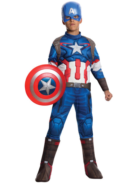 Avengers Age of Ultron deluxe Captain America costume for Kids