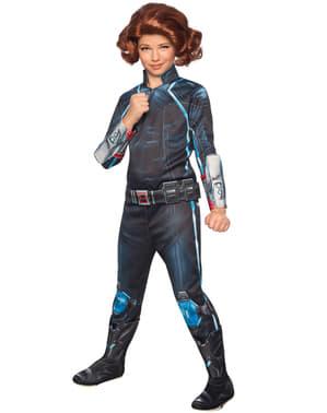 Fato de Viúva Negra do filme Os Vingadores: A Era de Ultron deluxe para menina