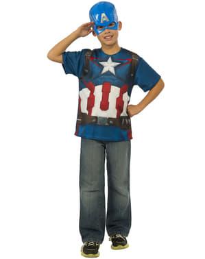 Kit do fato Capitão América do filme Os Vingadores: A Era de Ultron para menino
