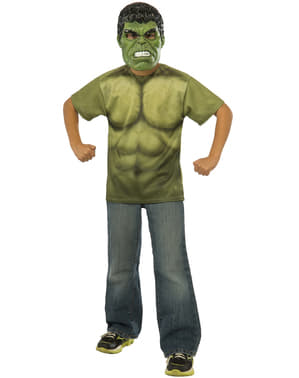 Kit do fato do Incrível Hulk do filme Os Vingadores: A Era de Ultron para menino