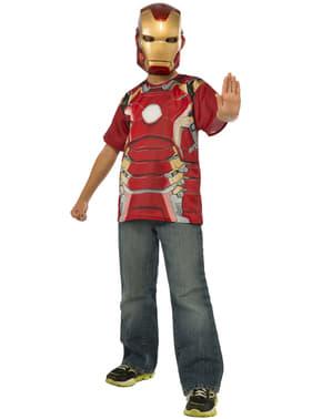 Kit do fato Homem de Ferro do filme Os Vingadores: A Era de Ultron para menino