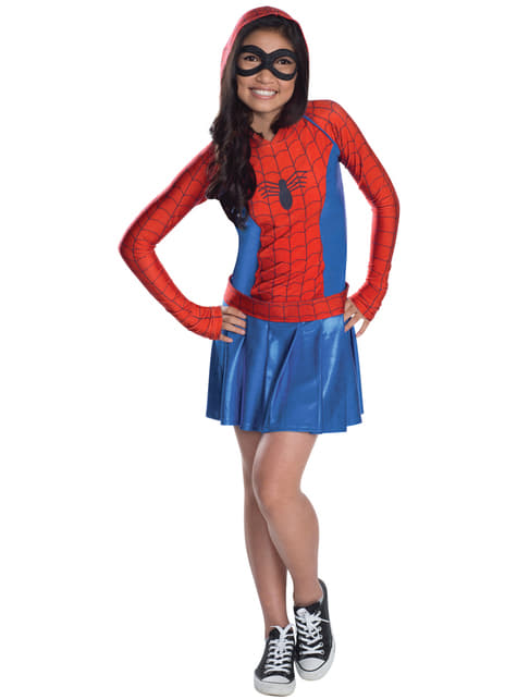 Vestido fato de Spidergirl para menina