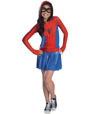 Spidergirl Kjole Kostyme for Jente