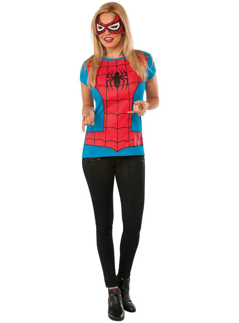 Kit do fato de Spidergirl Classic Marvel para mulher