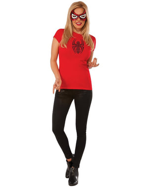Kit do fato de Spidergirl Marvel para mulher