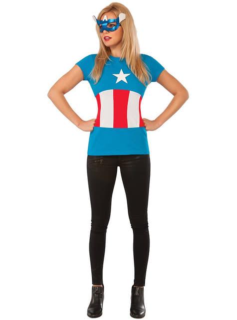 Kit do fato de American Dream Classic Marvel para mulher