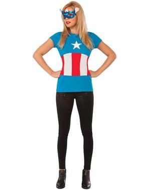 Kit costum Captain America Classic Marvel pentru femeie