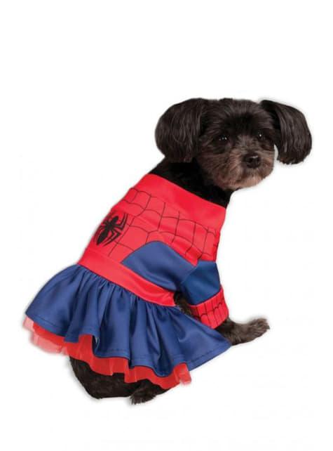Vestido de Homem-Aranha para cão