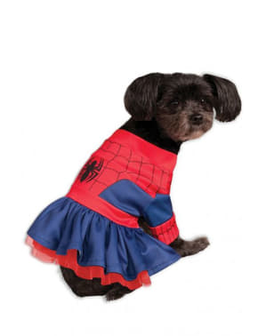 Strój Spiderman sukienka dla psa