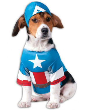 Costum Captain America pentru cățel