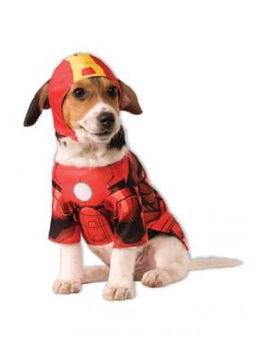 Costum Iron Man Marvel pentru cățel
