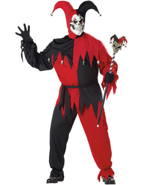 Pánský kostým ďábelský šašek nadměrná velikost