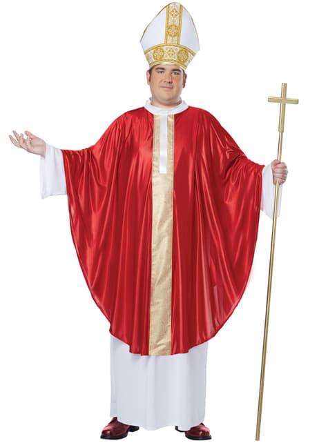 Mens Plus Size Pope Costume