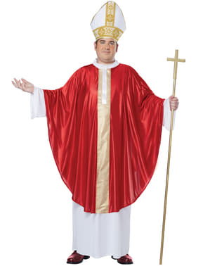 Mens Plus Size Pope Costume