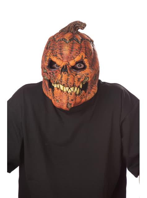 Máscara de calabaza maligna ani-motion para adulto