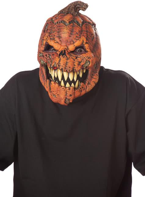 Máscara de calabaza maligna ani-motion para adulto - para tu disfraz