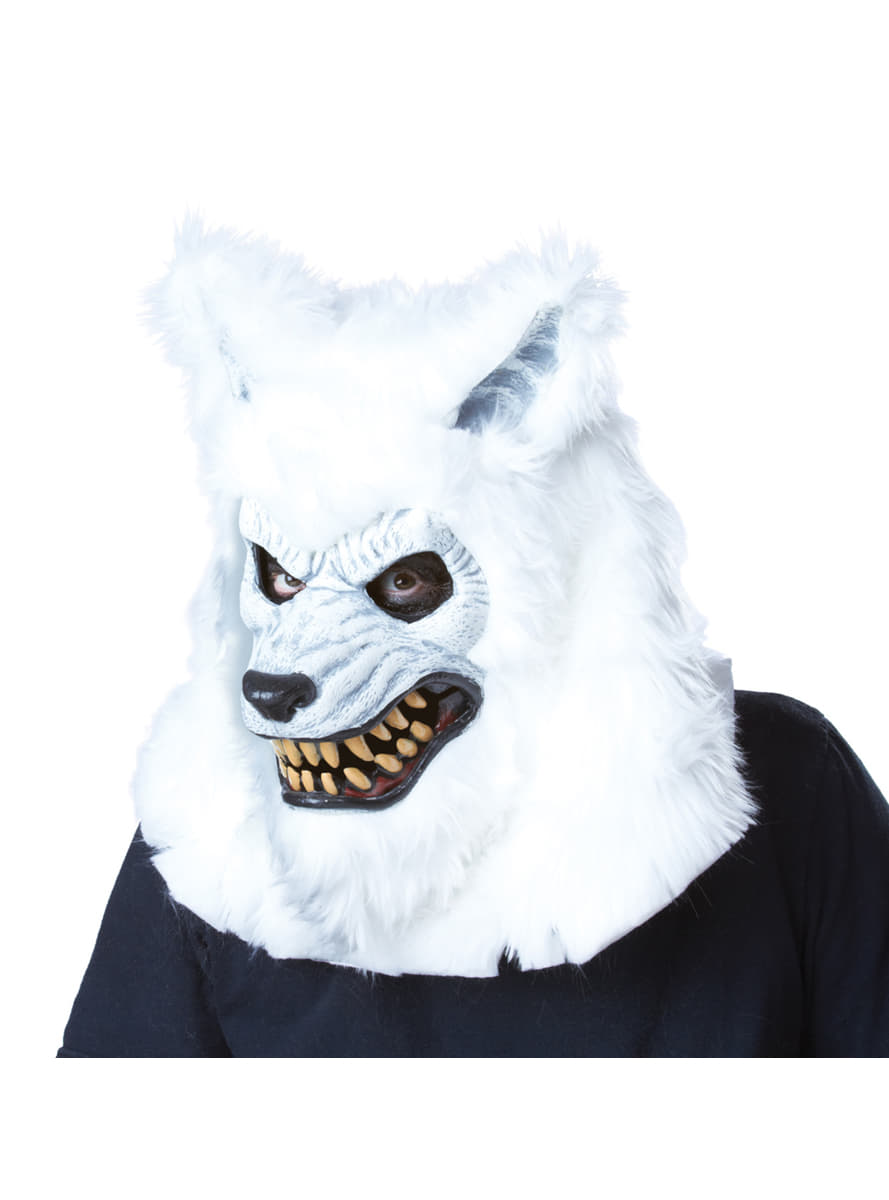 adults white werewolf ani-motion mask. express delivery | funidelia