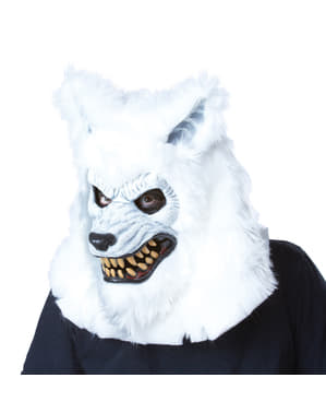 Dospelí White Vlkolak Ani-Motion Mask