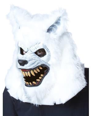 Maska pro dospělé Ani-Motion bílý vlkodlak