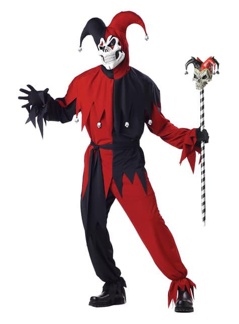 Déguisement clown arlequin effrayant pour homme