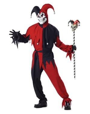 Mens Evil Jester Kostum