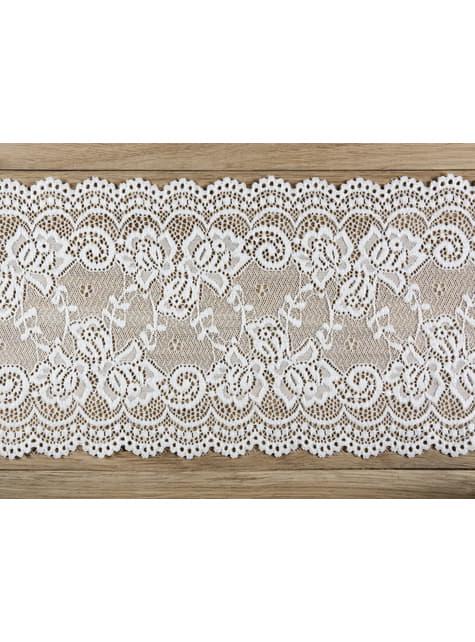Puntilla decorativa blanco roto de 15 cm para mesa