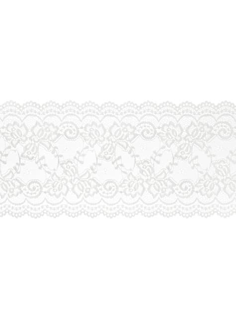 Puntilla decorativa blanco roto de 15 cm para mesa - para tus fiestas