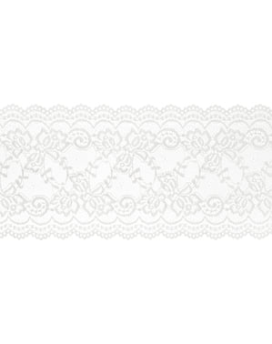 Dekorativní bílá krajka na stůl 15 cm