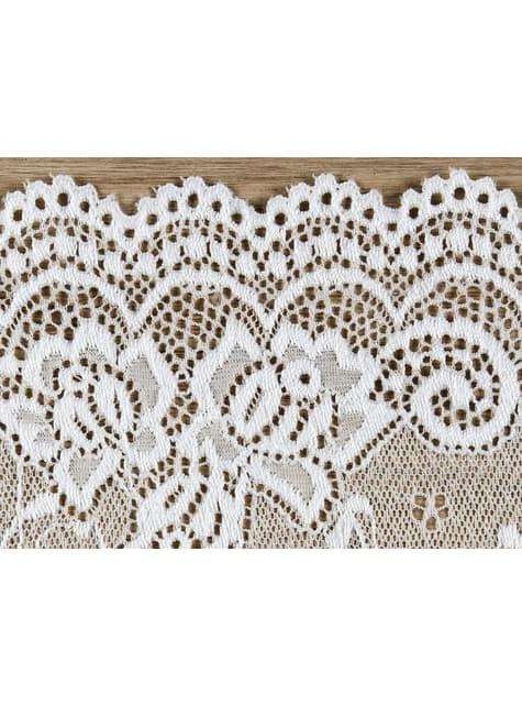 Puntilla decorativa blanco roto de 15 cm para mesa - original