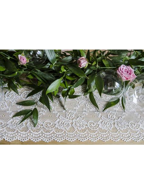 Puntilla decorativa blanco roto de 15 cm para mesa - para decorar todo durante tu fiesta