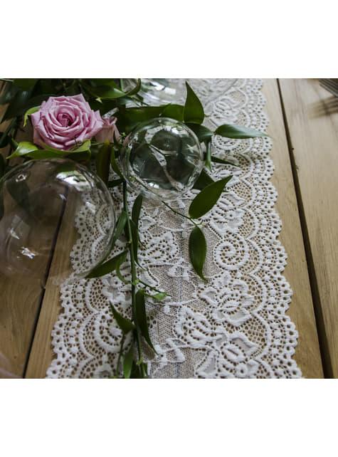 Puntilla decorativa blanco roto de 15 cm para mesa - el más divertido
