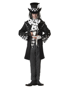 Disfraz de sombrerero loco tenebroso para hombre
