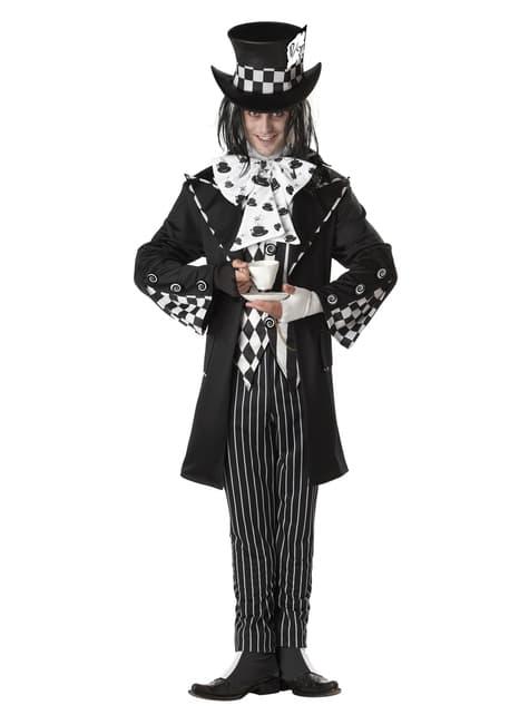 Der düstere und Verrückter Hutmann Kostüm für Herren