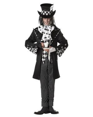 Costume da cappellaio matto tenebroso uomo