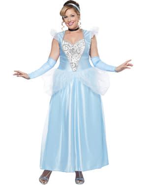 Blauw grote maat Middernacht Prinsessen kostuum voor vrouw