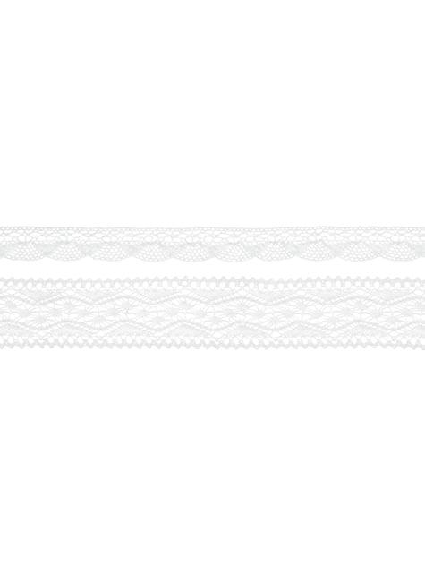 2 dentelles blanches 2 largeurs différentes pour la décoration - Natural Wedding
