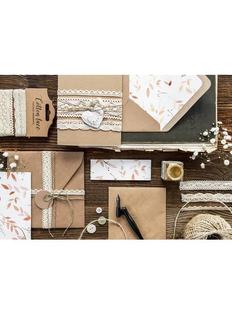 2 dentelles beiges de 2 largeurs différentes pour la décoration- Natural Wedding