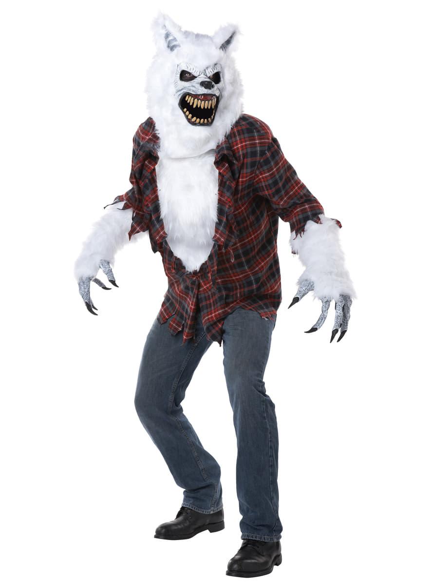 Mens White Werewolf Ani-Motion Costume