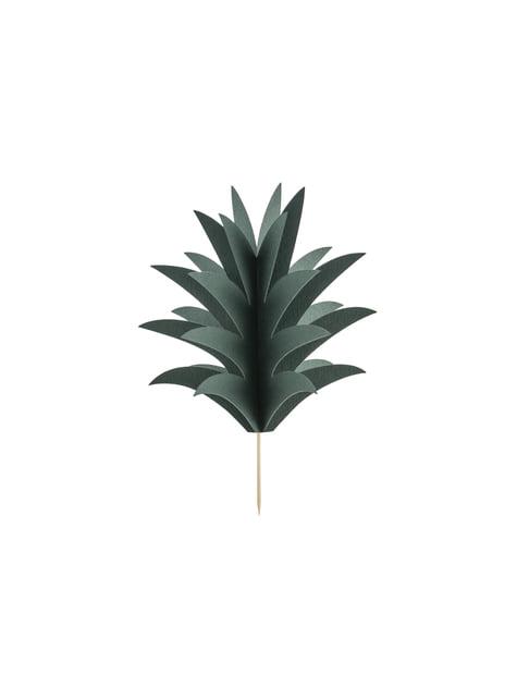 6 palillos decorativos de piña - Aloha Turquoise