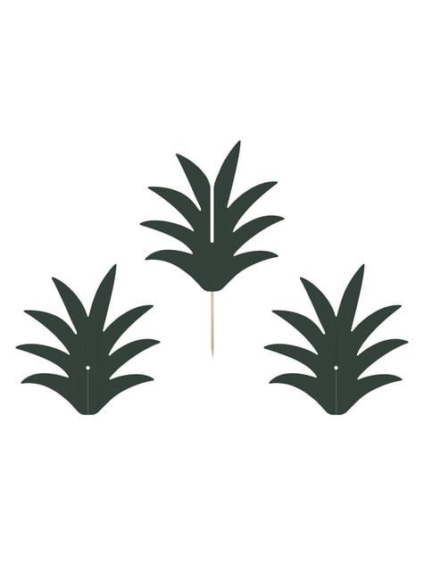 6 palillos decorativos de piña - Aloha Turquoise - para tus fiestas