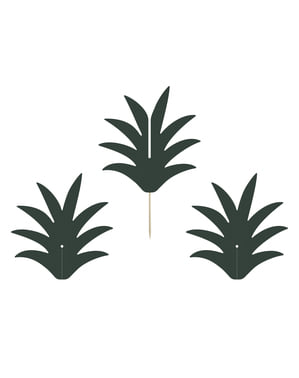 6 dekorationspinnar med ananas - Aloha Collection