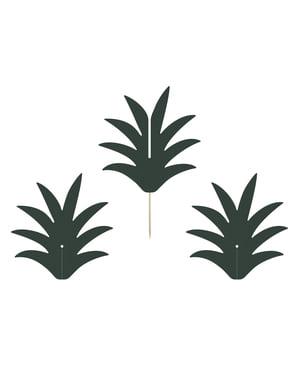 Sett med 6 Ananas Matpinner - Aloha Kolleksjon