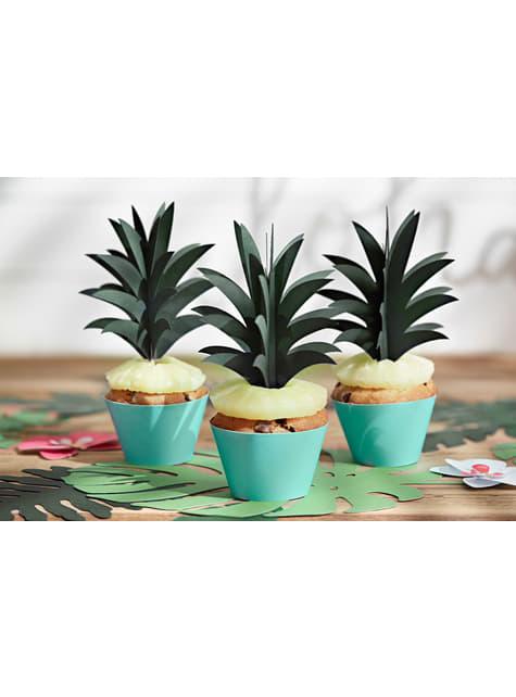6 palillos decorativos de piña - Aloha Turquoise - barato