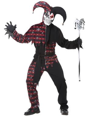 Costum de bufon sinistru pentru bărbat