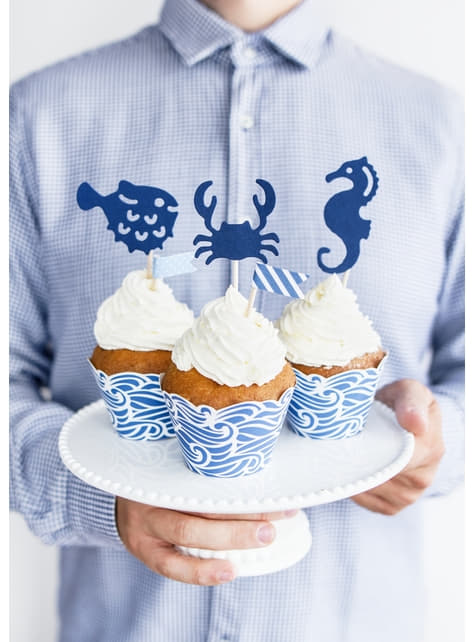 6 decoraciones para tarta marineros - Ahoy! Collection
