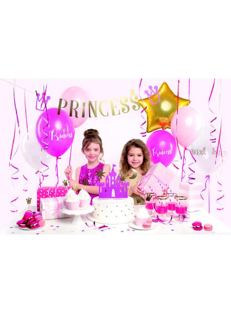 6 decoraciones para tarta coronas doradas - Princess Party - para tus fiestas