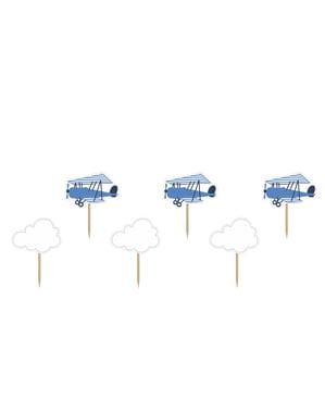6 Kakkukoristetta Lentokoneilla ja Pilvillä - Little Plane