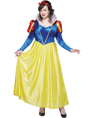 Sne Prinsesse plus size kostume til Kvinder