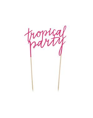 "Цикламена украса за торта ""Tropical Party""– Tropical Party"